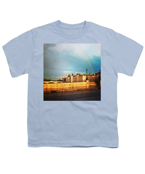 Rainbow Over The Seine. Youth T-Shirt by Allan Piper