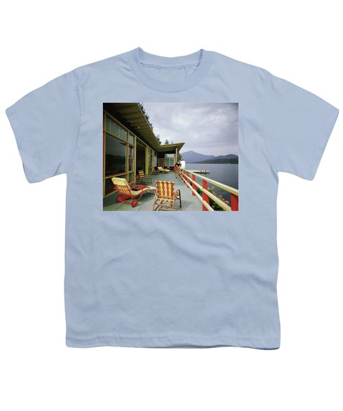Two Women On The Deck Of A House On A Lake Youth T-Shirt