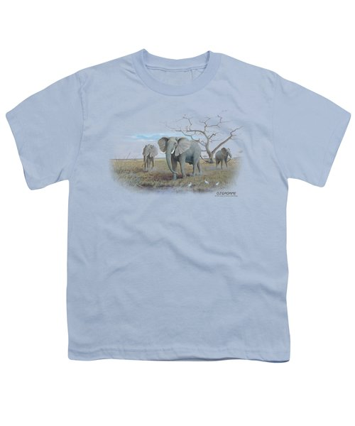 Wildlife - African Elephants Youth T-Shirt