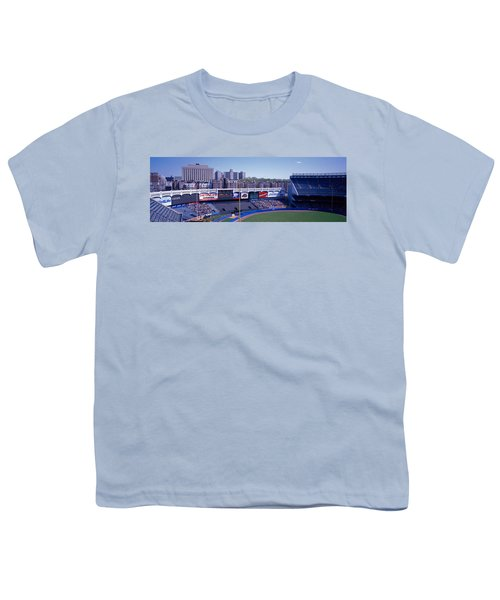 Yankee Stadium Ny Usa Youth T-Shirt by Panoramic Images