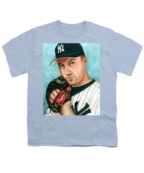 Derek Jeter  Youth T-Shirt by Bruce Lennon