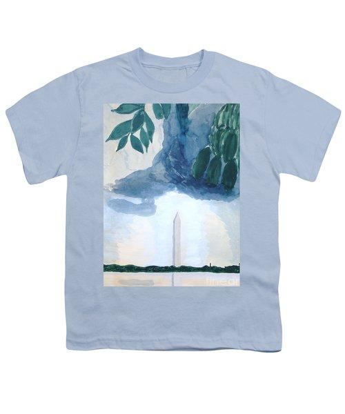 Washington Monument Youth T-Shirt by Rod Ismay