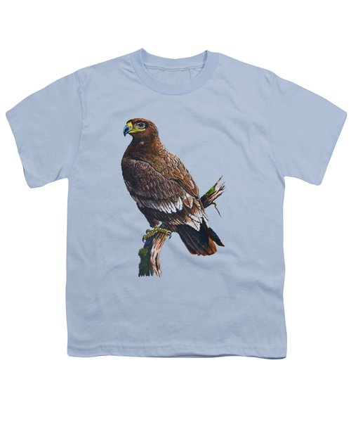 Steppe-eagle Youth T-Shirt by Anthony Mwangi