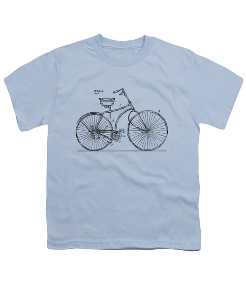 1890 Bicycle Patent Minimal - Vintage Youth T-Shirt