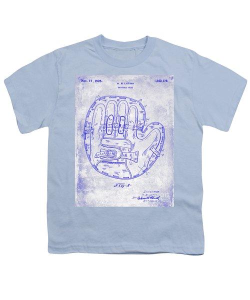 1925 Baseball Glove Patent Blueprint Youth T-Shirt