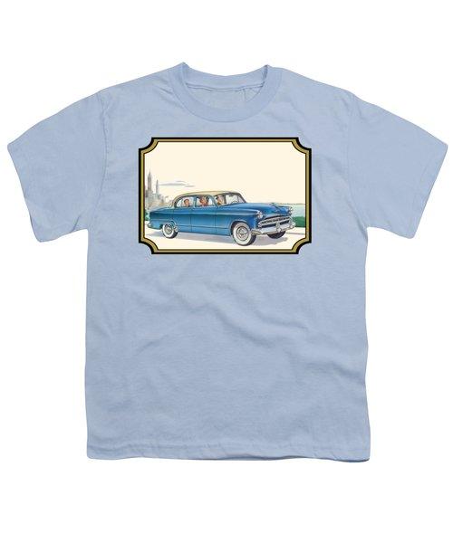 1953 Dodge Coronet Antique Car - Nostagic Americana - Vintage Tranportation Youth T-Shirt