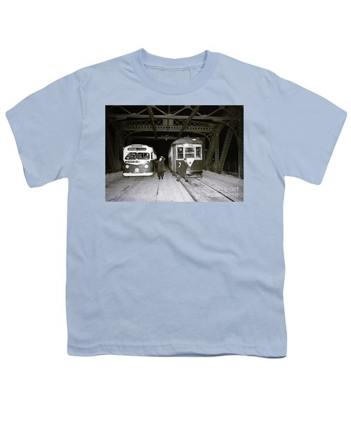 207th Street Crosstown Trolley Youth T-Shirt by Cole Thompson
