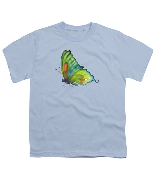 3 Perched Orange Spot Butterfly Youth T-Shirt by Amy Kirkpatrick