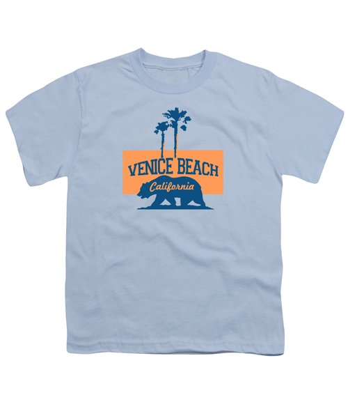Venice Beach La. Youth T-Shirt by Lerak Group LLC