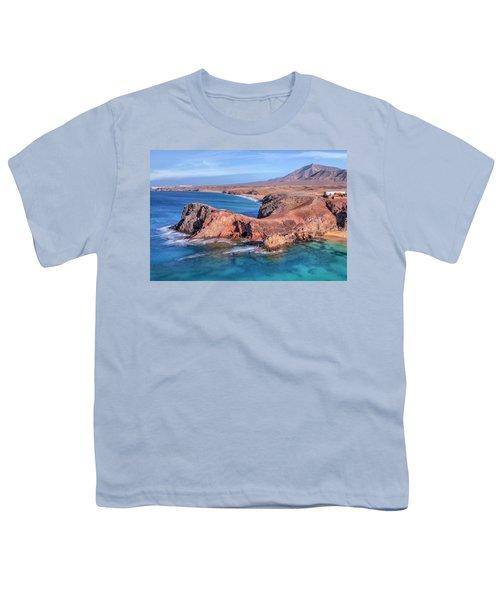 Playa Papagayo - Lanzarote Youth T-Shirt by Joana Kruse