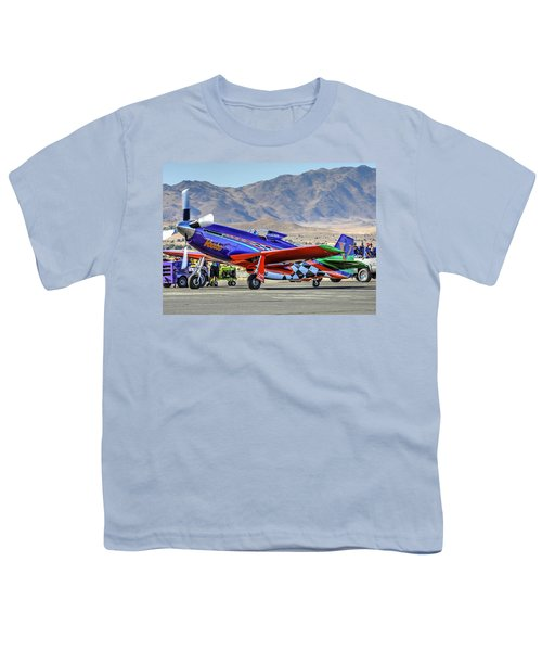 A Closer Look At Voodoo Engine Start Sundays Unlimited Gold Race Youth T-Shirt