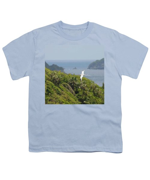 A Red-billed Tropicbird (phaethon Youth T-Shirt by John Edwards