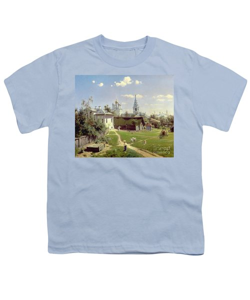 A Small Yard In Moscow Youth T-Shirt by Vasilij Dmitrievich Polenov