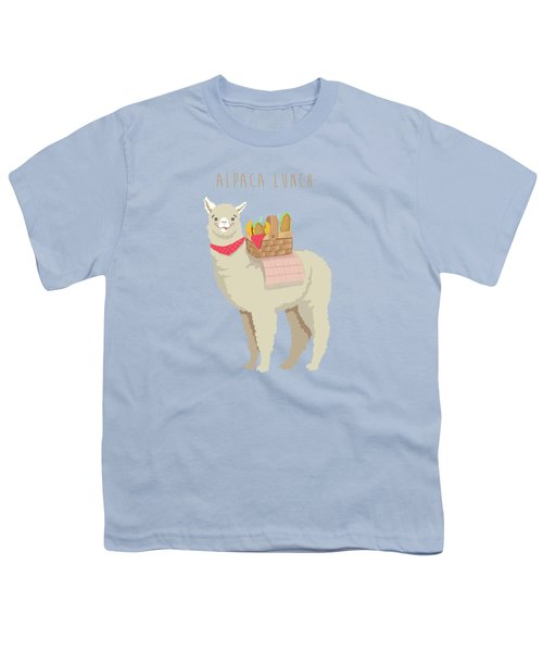 Alpaca Lunch Youth T-Shirt by Little Bunny Sunshine