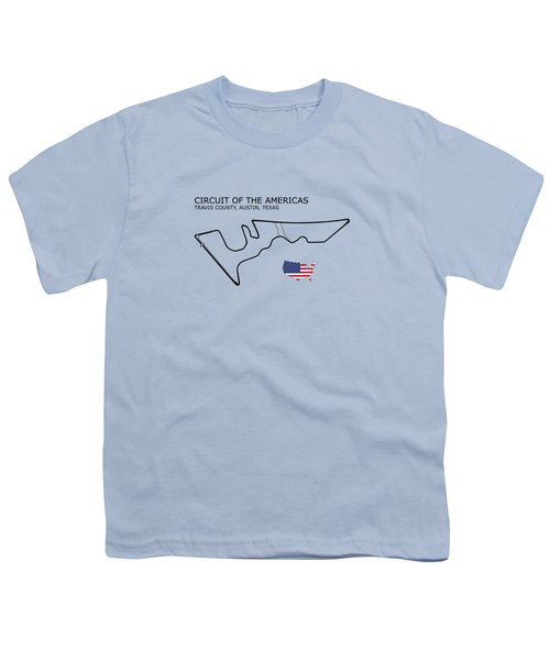Circuit Of The Americas Youth T-Shirt by Mark Rogan