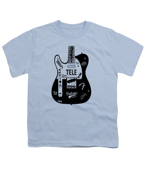 Fender Telecaster 52 Youth T-Shirt by Mark Rogan