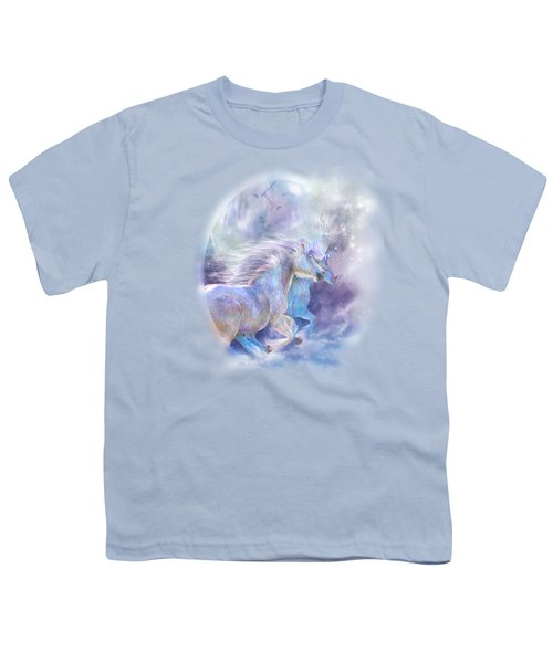 Unicorn Soulmates Youth T-Shirt by Carol Cavalaris