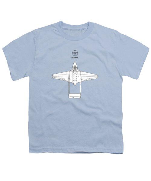 The De Havilland Vampire Youth T-Shirt by Mark Rogan