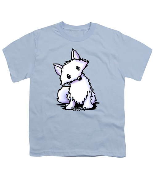 Arctic Fox Youth T-Shirt by Kim Niles
