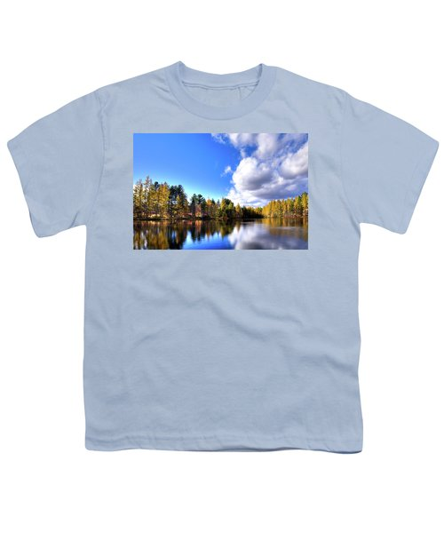 Youth T-Shirt featuring the photograph Autumn Calm At Woodcraft Camp by David Patterson