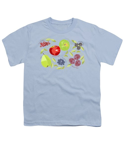 Autumn Fruit Geodesic Youth T-Shirt