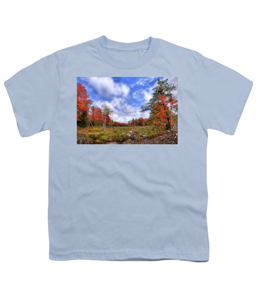 Youth T-Shirt featuring the photograph Autumn On The Stream by David Patterson