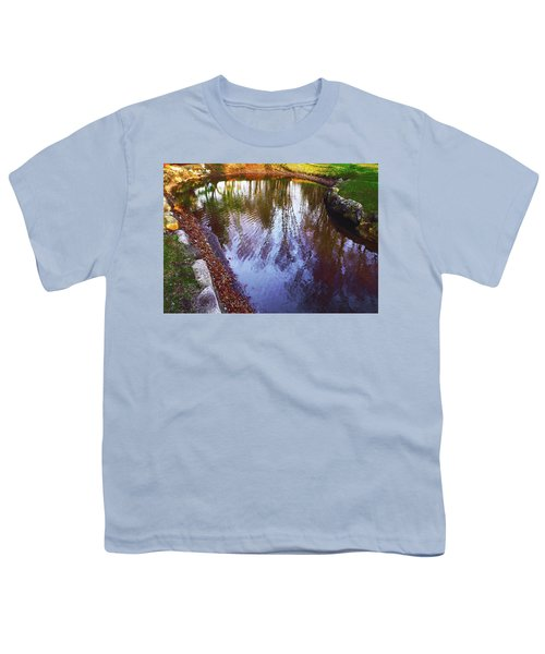 Autumn Reflection Pond Youth T-Shirt