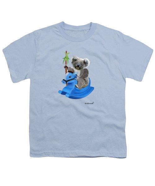 Baby Koala Buckaroo Youth T-Shirt by Glenn Holbrook