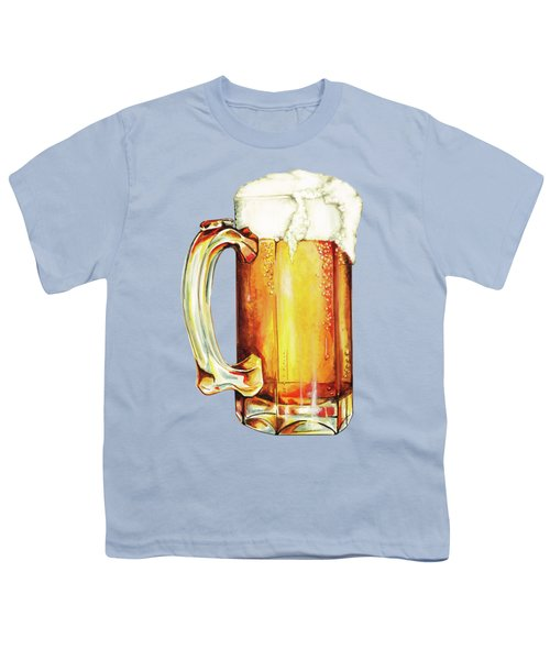 Beer Pattern Youth T-Shirt by Kelly Gilleran