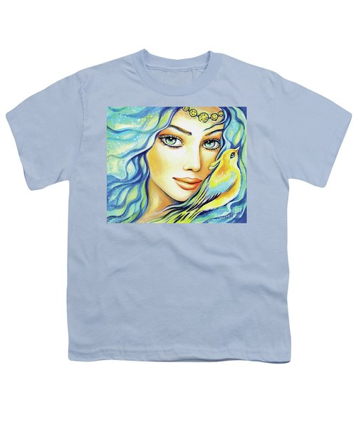 Youth T-Shirt featuring the painting Bird Of Secrets by Eva Campbell