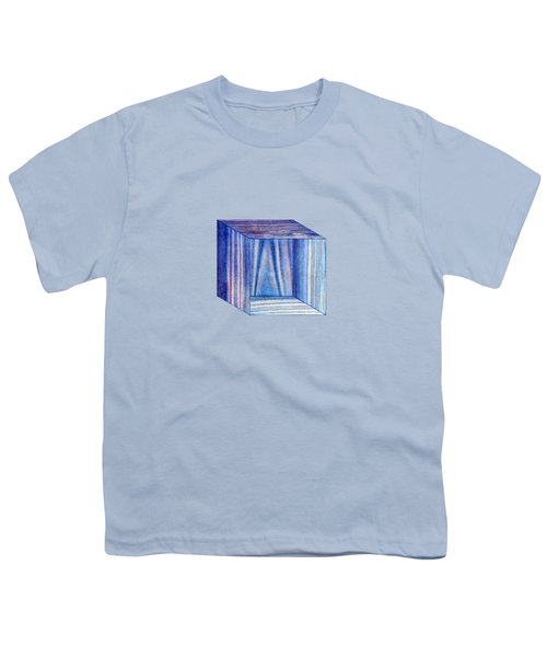 Blue Box Sitting Youth T-Shirt
