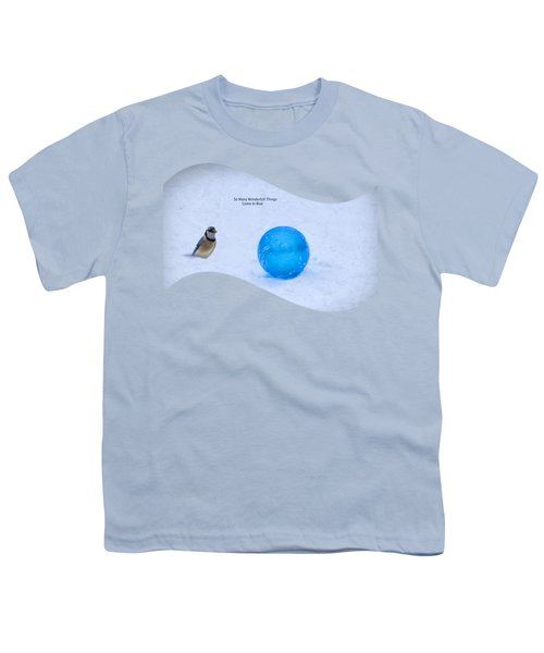 Blue Winter Youth T-Shirt by Linda Troski