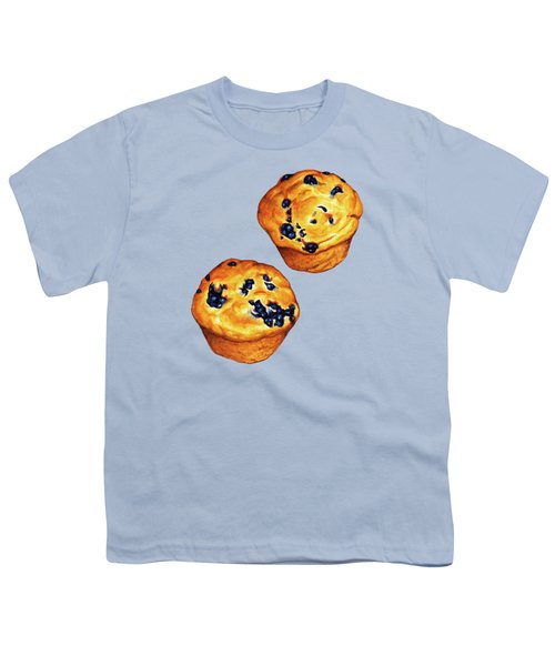 Blueberry Muffin Pattern Youth T-Shirt by Kelly Gilleran