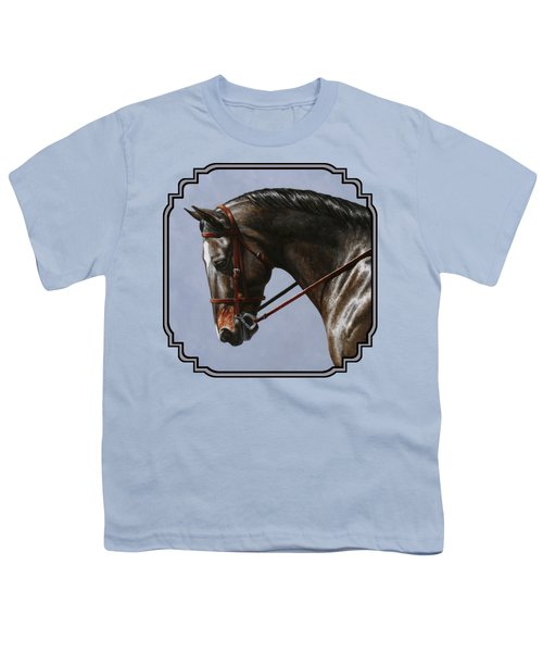 Brown Dressage Horse Phone Case Youth T-Shirt