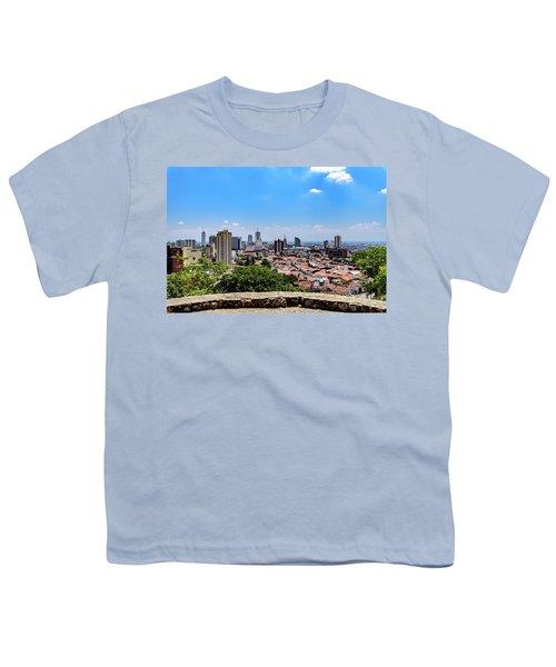 Cali Skyline Youth T-Shirt by Randy Scherkenbach