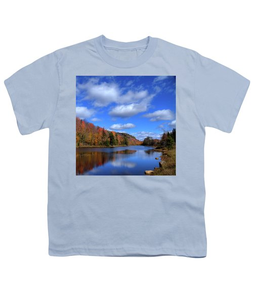 Calmness On Bald Mountain Pond Youth T-Shirt by David Patterson