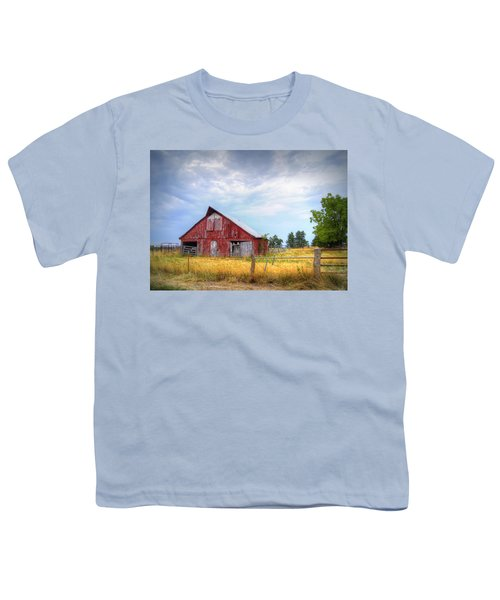 Christian School Road Barn Youth T-Shirt