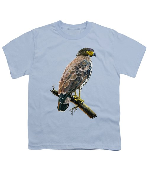 Congo Serpent Eagle Youth T-Shirt by Anthony Mwangi