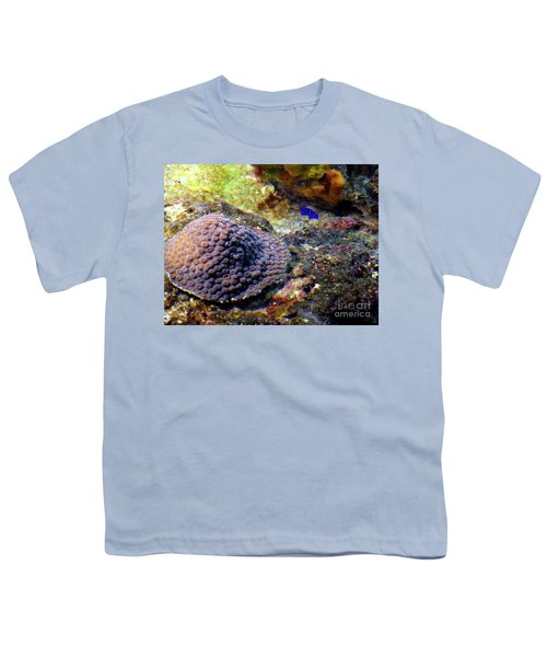Youth T-Shirt featuring the digital art Coral Art Cu 3 by Francesca Mackenney