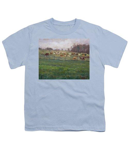Cows In A Farm, Georgetown  Youth T-Shirt