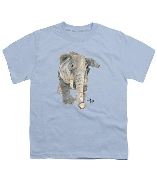 Cuddly Elephant Youth T-Shirt by Angeles M Pomata