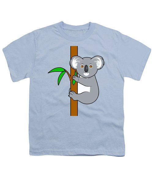 Koala With Eucalyptus Snack Youth T-Shirt