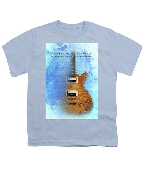 Darius Rucker Inspirational Quote, Electric Guitar Poster For Music Lovers And Musicians Youth T-Shirt by Pablo Franchi