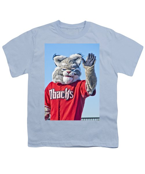 Diamondbacks Mascot Baxter Youth T-Shirt by Jon Berghoff