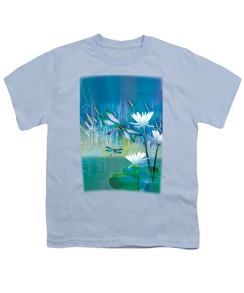 Dragonfleis On Blue Pond Youth T-Shirt