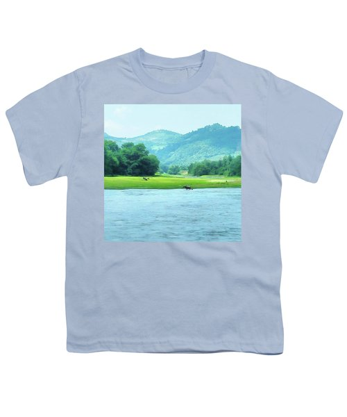 Animals In Li River Youth T-Shirt