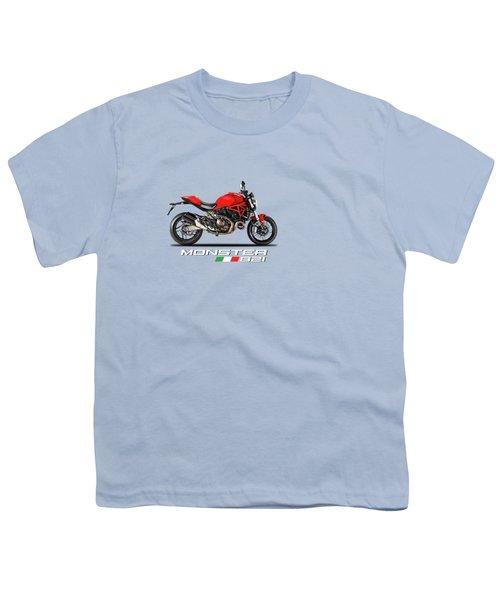 Ducati Monster 821 Youth T-Shirt by Mark Rogan