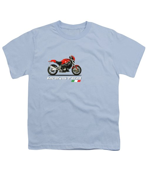 Ducati Monster S4 Sps Youth T-Shirt by Mark Rogan