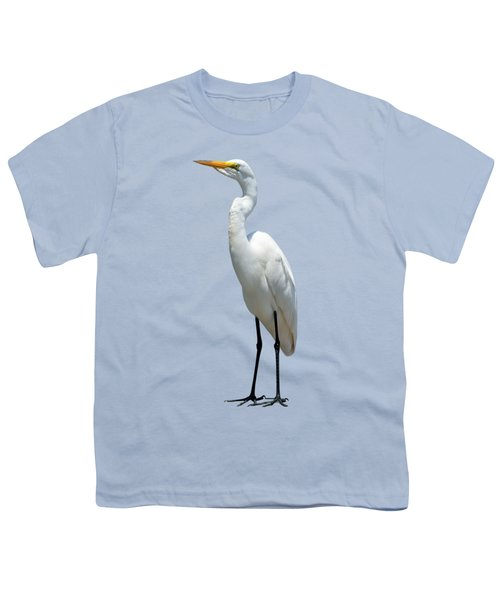 Eastern Great Egret Ardea Alba Modesta Youth T-Shirt