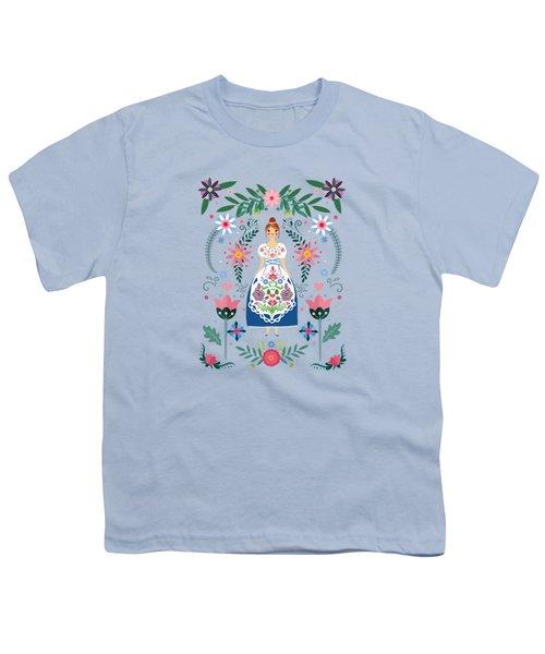 Fairy Tale Folk Art Garden Youth T-Shirt